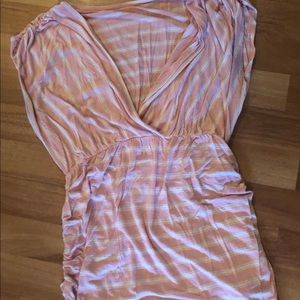 Super Comfy!! Pink/White striped Maternity Shirt!